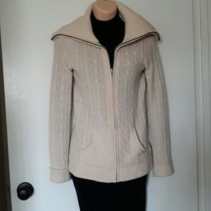Saks Fifth Ave. Full Zip Cashmere Cardigan